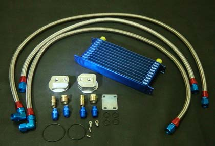 Oil cooler and oil filter relocater