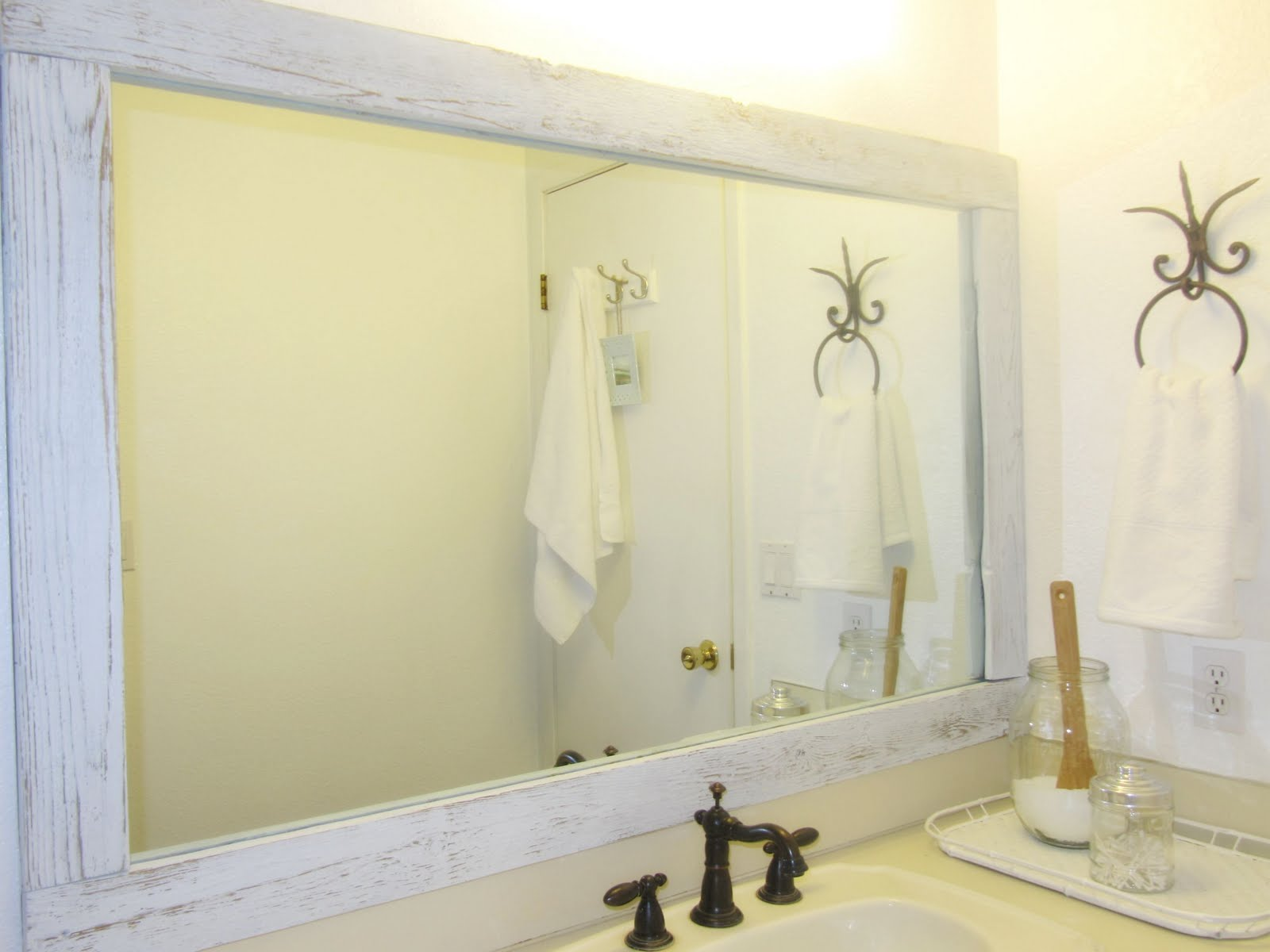 Barn Wood Mirror Makeover