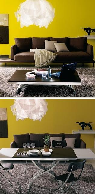 Espacios peque os mesas centro que se transforman en mesa - Mesas de centro para espacios pequenos ...