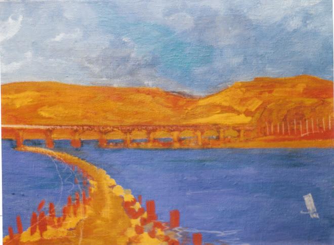 ébauche de Pont sur La Garonne (d'après croquis d'une vieille photo)