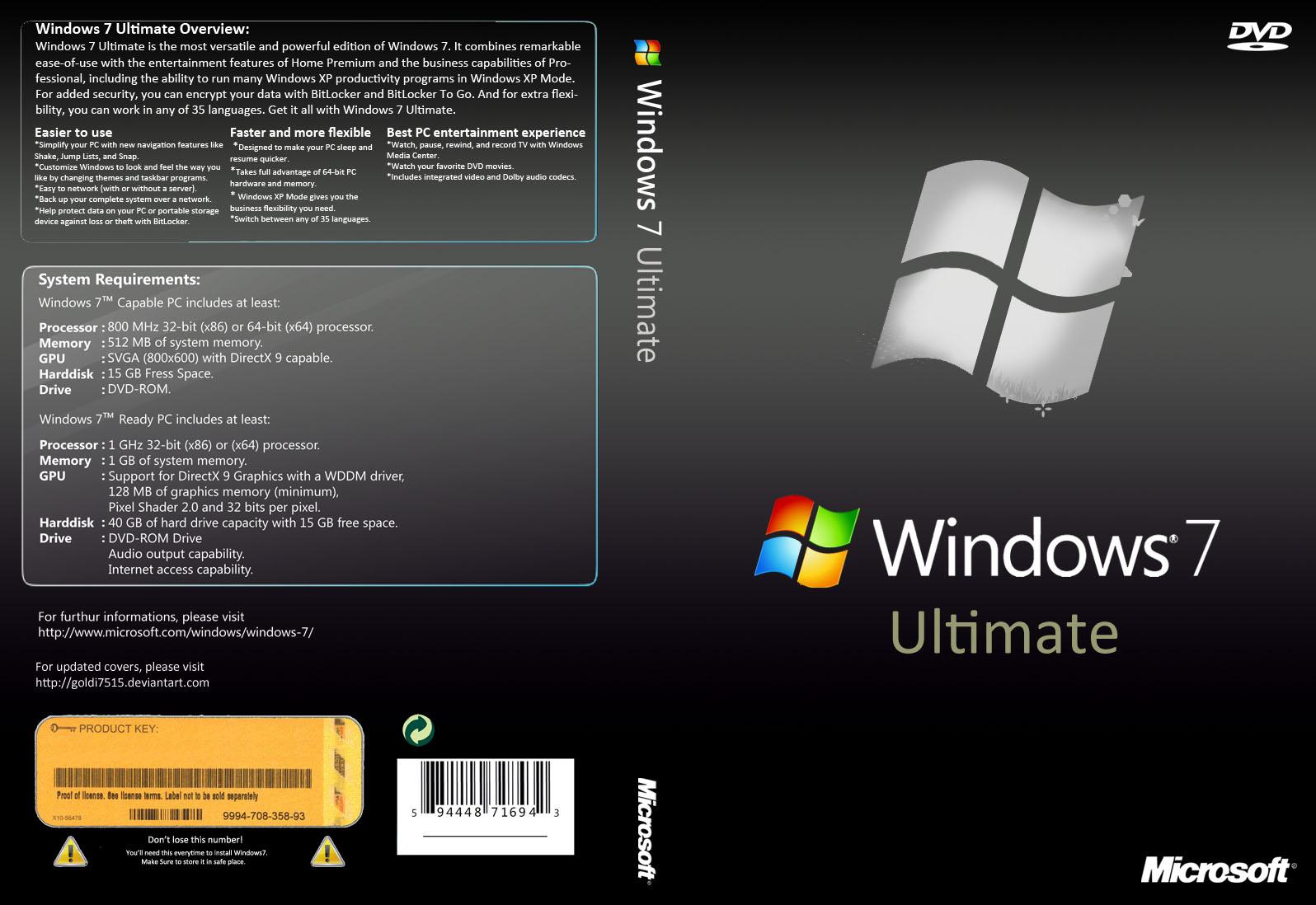 Windows 7 ultimate sp1 en espa ol iso original identi for Descargar embroidery office design 7 5 full