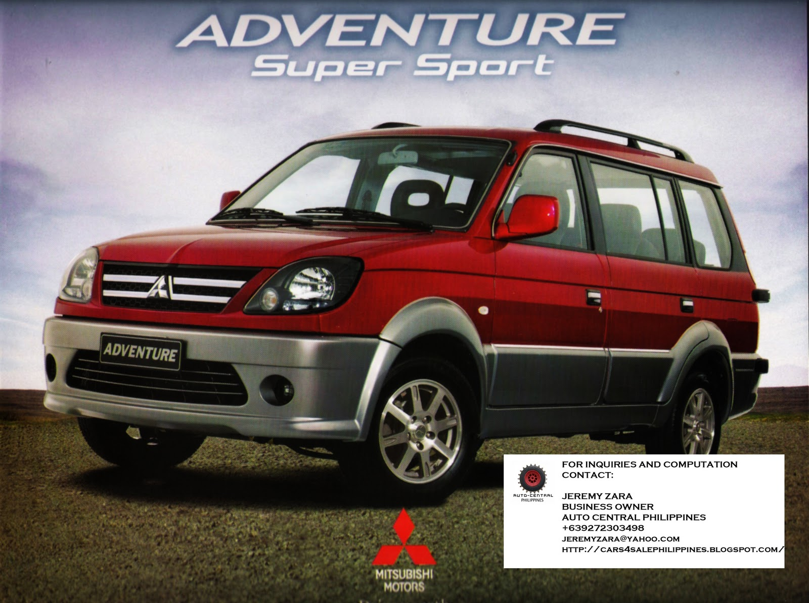 Brand New Cars for Sale: BRAND NEW MITSUBISHI ADVENTURE FOR SALE
