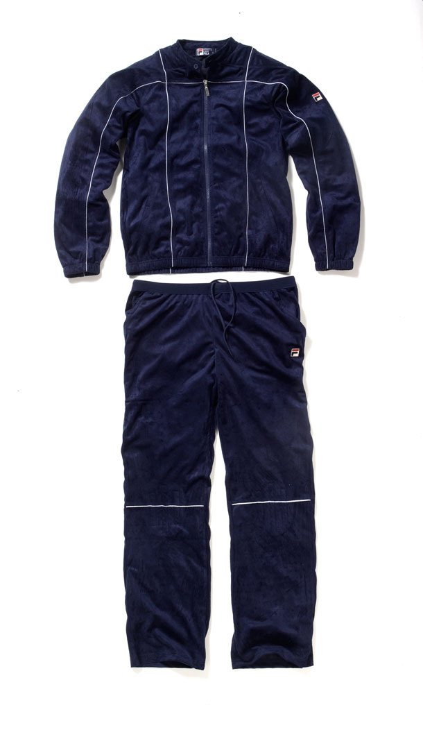 fila 80s tracksuit. settanta mark iii known as terrinda was launched in 1982 and the last fila bj collaboration. biker style collar padded shoulder detail ahead of fila 80s tracksuit