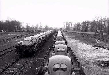 Distribución via ferroviaria.