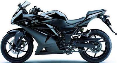 Black Kawasaki Ninja ZX 250 R 2010 Fotos