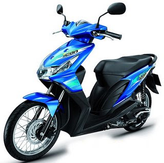 Honda BEAT Modifikasi Back Sweet Modifikasi Beat Mothai Warna Biru asik