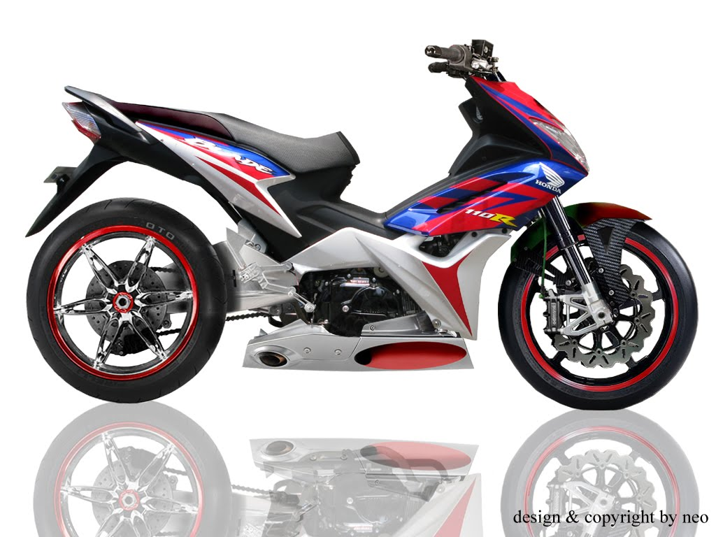 honda blade Modifikasi Motor Honda Blade Racing For Road Race