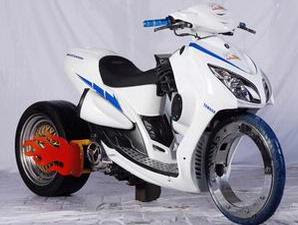 modifikasi Yamaha mio scooter matic