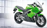 2009 green Kawasaki Ninja 650 cc layout