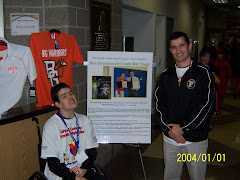 Nick and Coach Boggs-Speaking at Wood County Youth Olympics 3/10