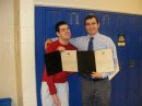 Nick and Coach Boggs receiving Senatorial Citation 2-17-10