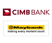 BOOKING NOW - Please Click the MAYBANK logo