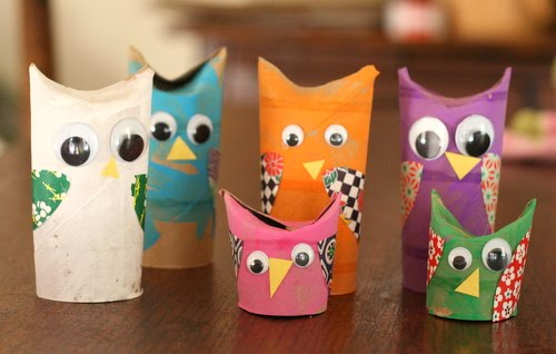 Owl Craft with Toilet Paper Tubes