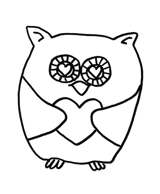 valentines day coloring pages owls - photo#13