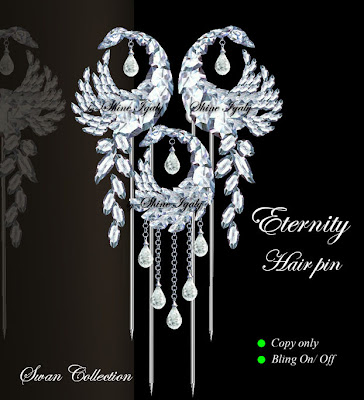 Swan Diamond Collection: Swan Hair Pins
