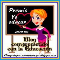 Gracias a Rosa del blog Recursos para maestros de español por este premio.