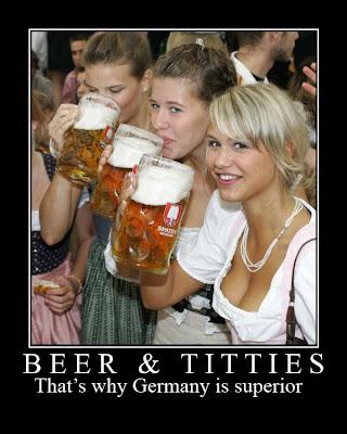carteles desmotivadores, cerveza y tetas