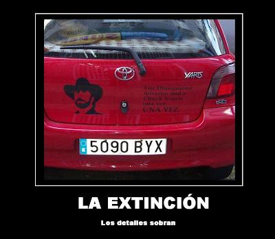 extincion, cartel, desmotivador