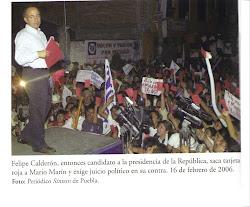 Una muestra mas de lo prometido por Felipe Calderón