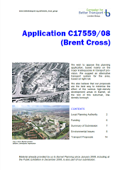 Transport criticism of Brent Cross (and possible light-rail alternative)