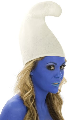 Blue Body Paint Smurf Fancy Dress