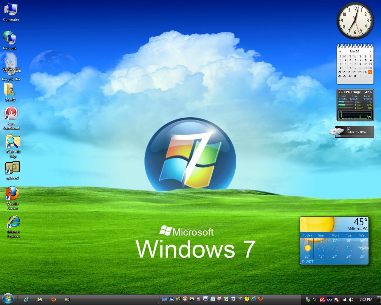 Everything windows windows 7 basic themes for Window 07 themes