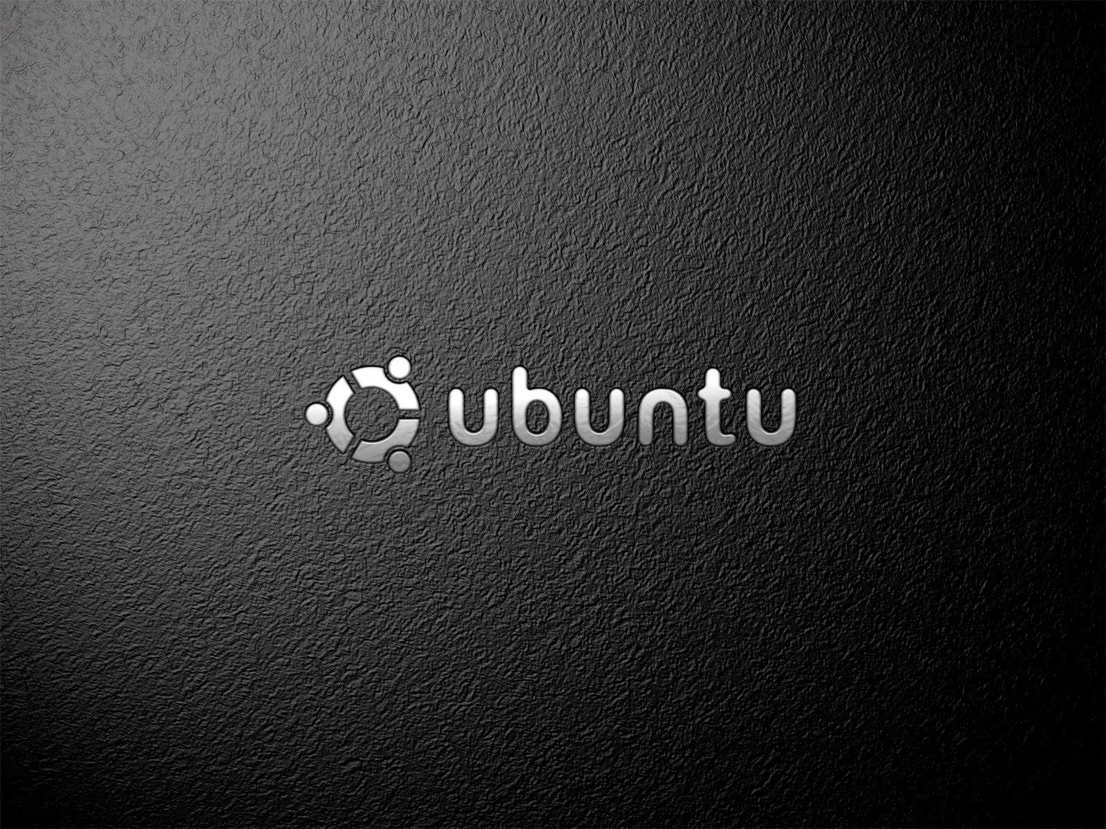 pc, techno, Ubuntu Black Slate Walpaper