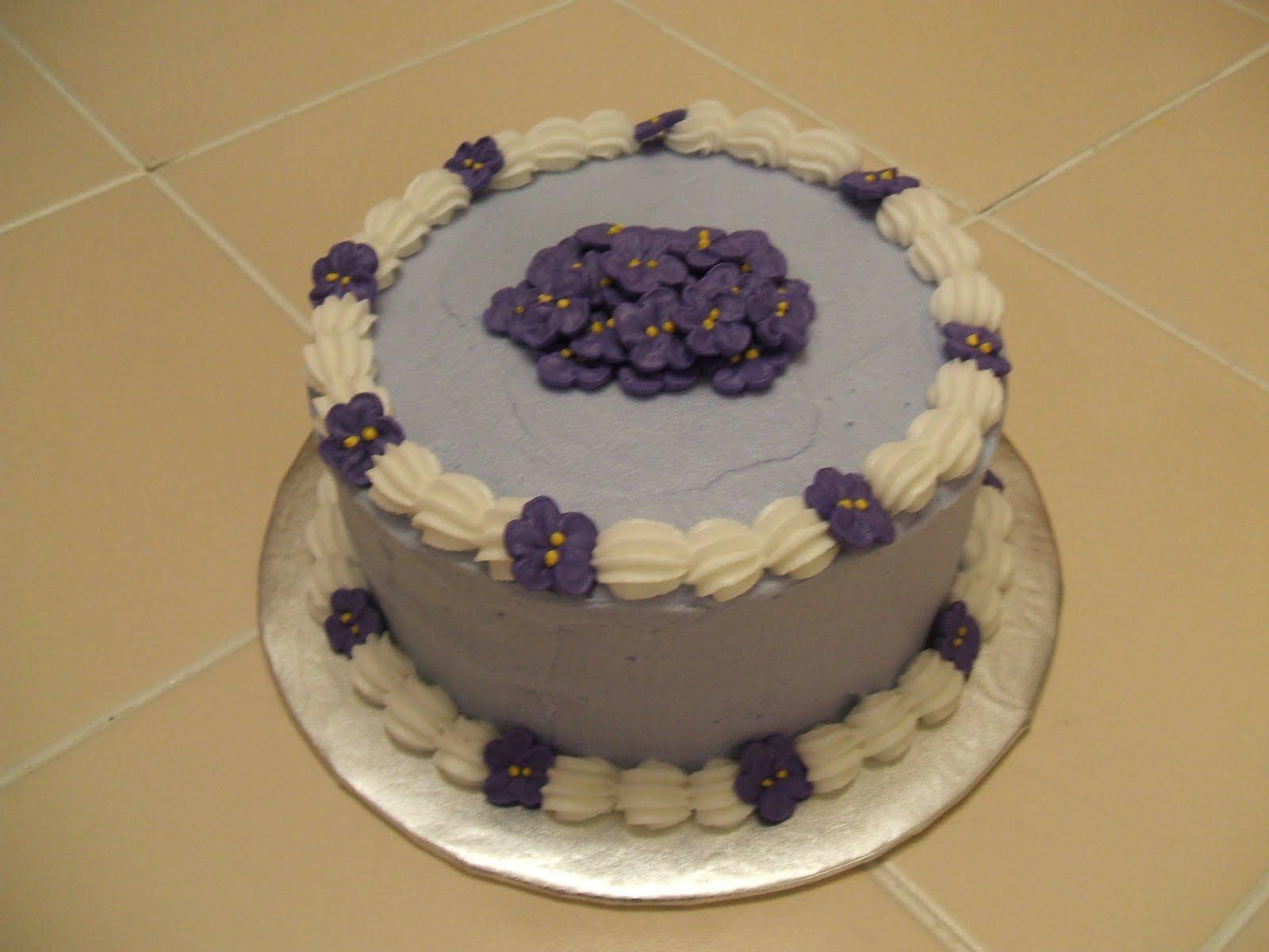 Banana Cake Violet Buttercream