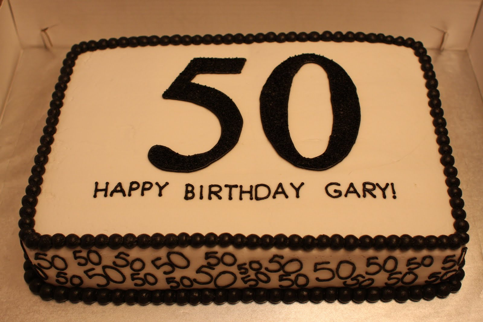 The buttercream bakery 50th birthday sheet cake for 50th birthday cake decoration