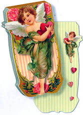 Love cupids and hearts