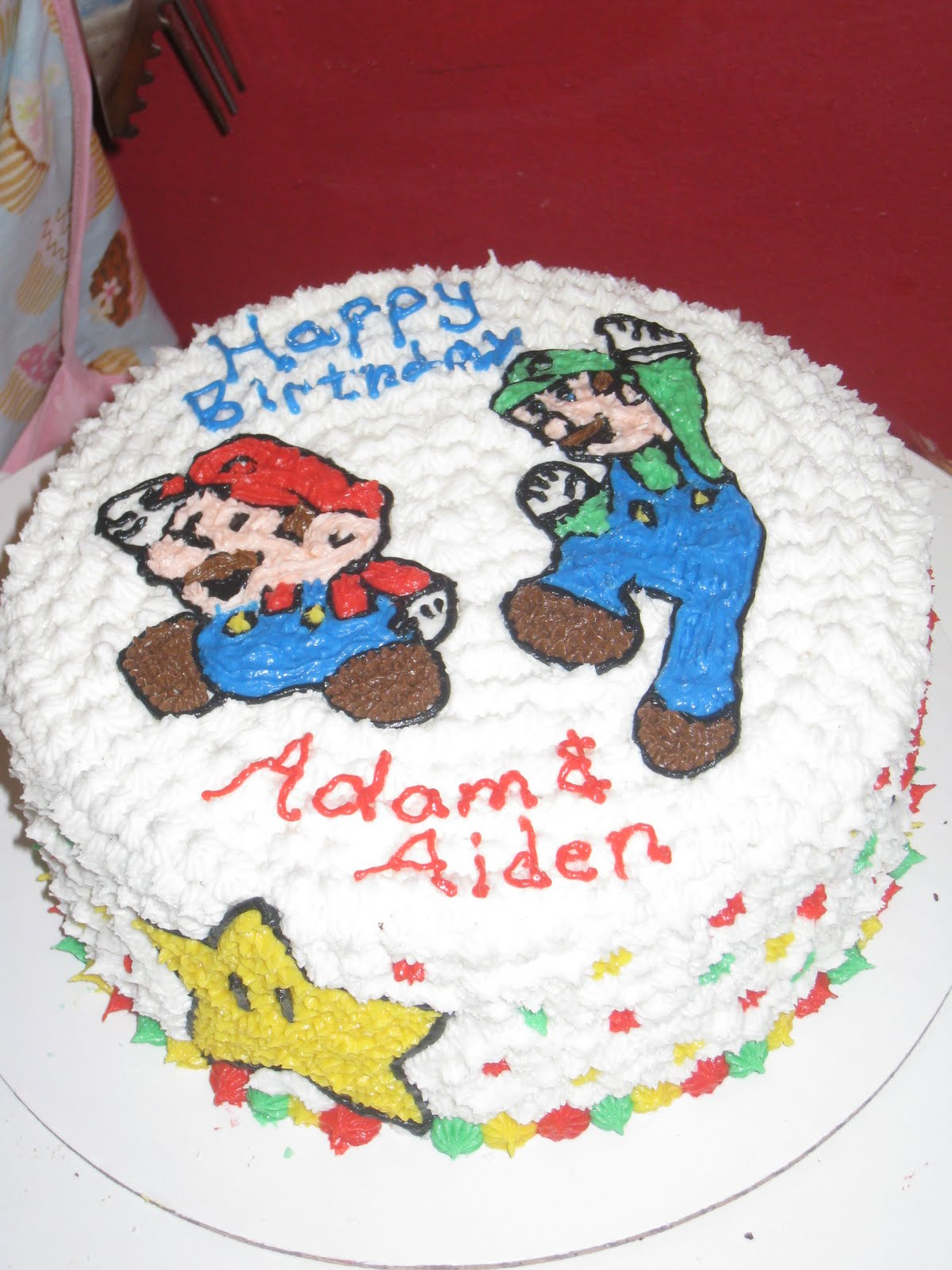 Blessed Cakes Mario And Luigi Birthday Cake
