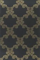 papel de parede entrançado, preto e dourado