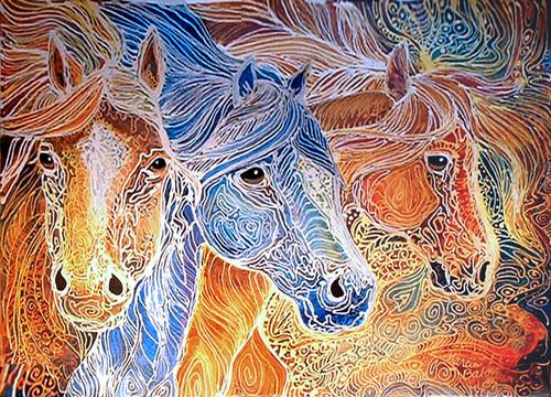 Batik Fabric Art