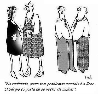 Humor Crossdresser: Problemas mentais
