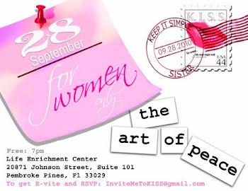 The Art of Peace for Women Sept. 28, 2010