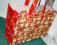 Angie&#39;s Big Quilted Panel Bag