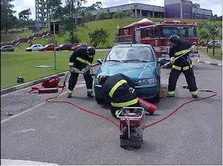 Salvamento veicular bombeiros