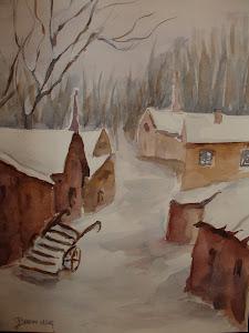 Paese nella neve