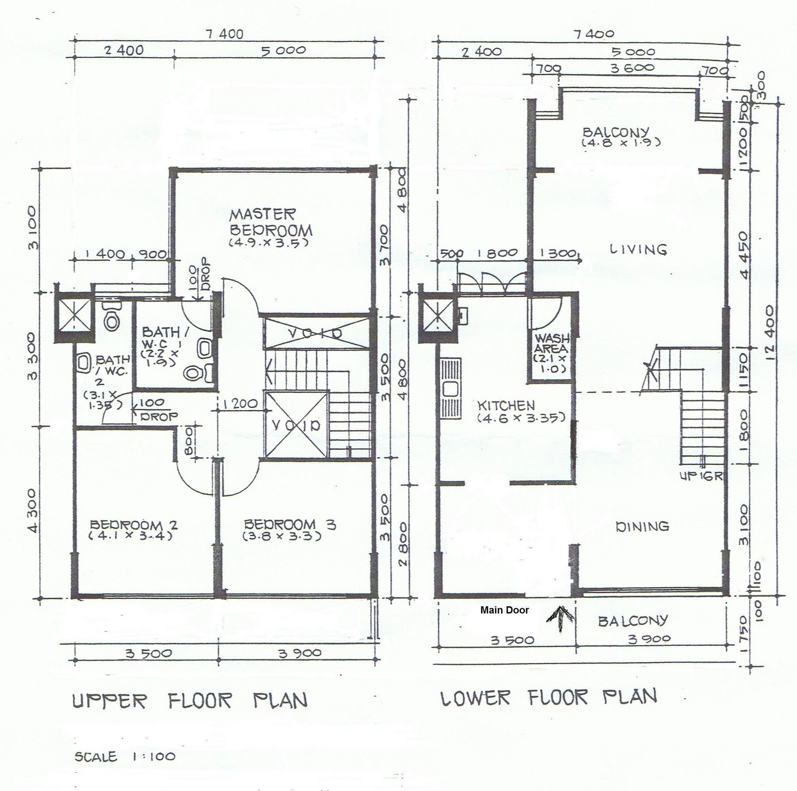 Maisonette house plans three bedroom bungalow house plan for Maisonette house plans