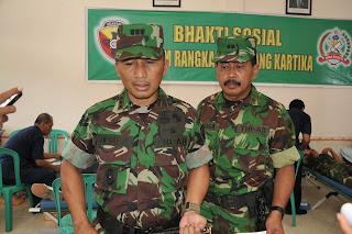 MEMPERINGATI HARI JUANG KARTIKA TNI AD TAHUN 2010 KOREM 162/WB GELAR BHAKTI SOSIAL DONOR DARAH