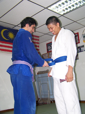 Bjj Blue Belt. his new Blue Belt