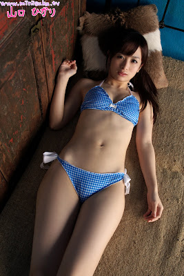 Japanese Model Hikari Yamaguchi in nice blue bikini » Asian Celeb/japanese model
