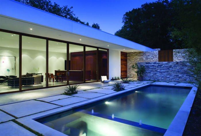 Casas minimalistas y modernas nuevas paredes de piedra en for Casas actuales modernas