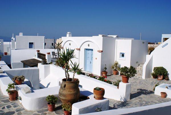 Estilo rustico patios griegos Casas griegas antiguas