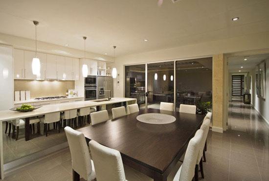casas minimalistas y modernas comedores actuales