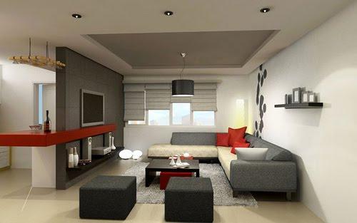 casas minimalistas y modernas interiores con color