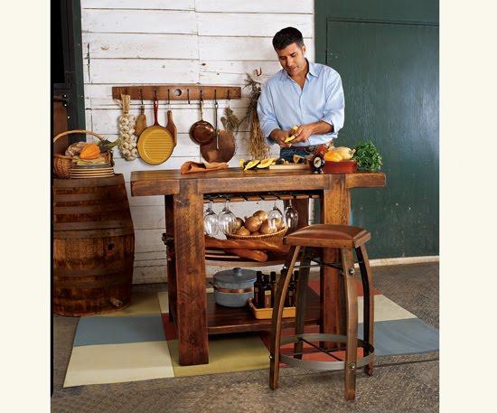 Estilo rustico islas rusticas para las cocinas - Islas de cocina rusticas ...