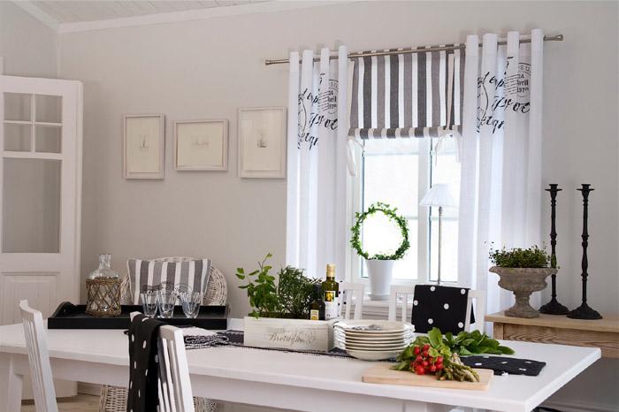 Estilo rustico cortinas para ambientes rusticos for Cortinas para cocina rustica