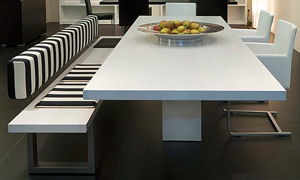 Casas minimalistas y modernas mesas de comedor linea oregon for Comedores 8 sillas chile
