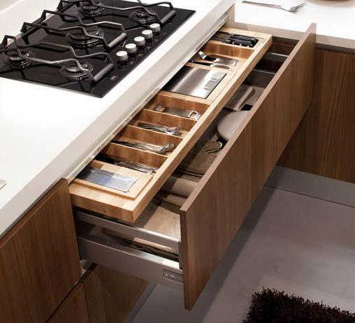 Casas minimalistas y modernas armarios de cocina de alf - Accesorios para armarios de cocina ...